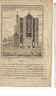 M4/ °HERENTALS? 1770? + HERENTALS 1833 PHILIPPUS DECKERS  GRAVURE VAN MERLEN!!! - Religion & Esotericism