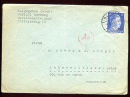 Allemagne - Enveloppe De Berlin Pour La France En 1943 - Réf O32 - Briefe U. Dokumente