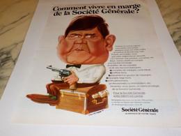 ANCIENNE PUBLICITE BANQUE SOCIETE GENERALE 1969 - Publicidad