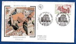 Enveloppe Premier Jour   / Basilique Saint Maurice / Epinal   / 20-09-1997 - FDC