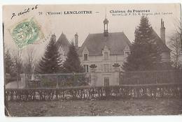 86 Vienne - Lencloitre Chateau Du Pontreau 1906 , Brevet Ldf Ed Bergeron Photo Lambert - Lencloitre