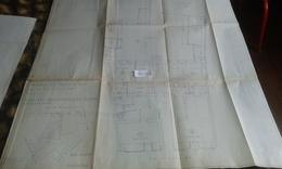 VP13.025 - PARIS -  Grand Plan 69 X 91 Immeuble Du 182 Rue De Belleville à PARIS - Architecture