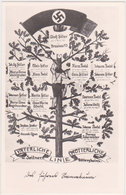 GERMANY 1936 PICT.PC HITLER GENEALOGICAL TREE MINT - Allemagne
