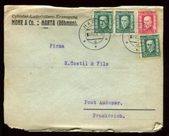 Tchécoslovaquie - Enveloppe Commerciale De Harta En 1928 Pour La France - Réf O37 - Tchécoslovaquie