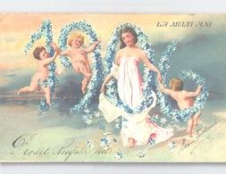 LA MULTI ANI Prosit Neujahr 1905/1906 Embossed Postcard Colour Litho Handstamp PALAT REGAL BUCURESTI - Rumänien