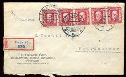 Tchécoslovaquie - Enveloppe En Recommandé De Prague En 1928 Pour La France - Réf O38 - Czechoslovakia