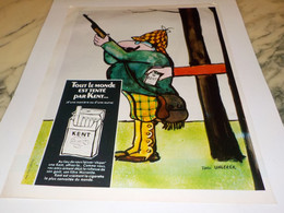 ANCIENNE PUBLICITE CIGARETTE KENT 1969 - Raucherutensilien (ausser Tabak)