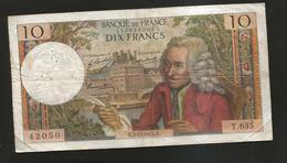 FRANCE - BANQUE De FRANCE - 10 Francs VOLTAIRE ( K. 5 / 11 / 1970 ) Serie: T. 635 - 1962-1997 ''Francs''