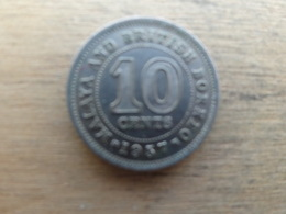 Malaya  Britich  Borneo  10  Cents 1957 H  Km 2 - Malaysia