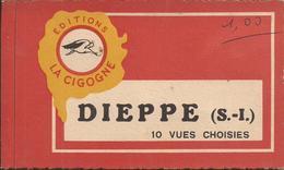 """DIEPPE (Seine-Maritime) - Carnet De 10 Vues (cartes Postales) Diverses - Plusieurs Scannées - Ed. """"La Cigogne"""" - A Voir! - Faire-part"""