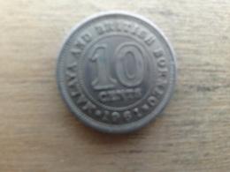 Malaya  Britich  Borneo  10  Cents 1961   Km 2 - Malaysia