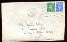 Royaume Uni - Enveloppe De St Ives Pour La France En 1946 - Réf O45 - Marcofilie