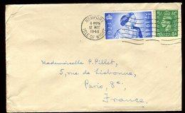 Royaume Uni - Enveloppe De Newport Pour La France En 1948 - Réf O46 - Marcofilie