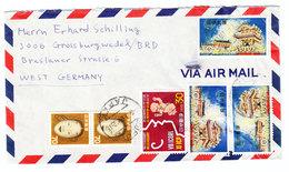 Japan AIRMAIL COVER TO Germany 1966 Shifuya - Airmail
