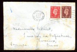 Royaume Uni - Enveloppe De Newport Pour La France En 1939 - Réf O47 - Marcofilie