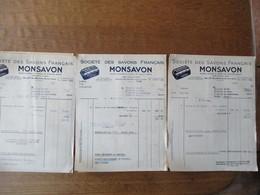 CLICHY SEINE MONSAVON SOCIETE DES SAVONS FRANCAIS 35 & 37 RUE MARTRE DES 23 JUIN,11 SEPTEMBRE ET 12 OCTOBRE 1942,BON DE - France