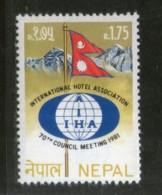 Nepal 1981 Intl. Hotel Assoc. Council Meeting Flag Mountain Sc 395 MNH # 1894 - Nepal