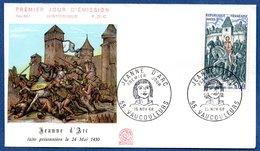 Enveloppe Premier Jour   / N 661 / Jeanne D'Arc / Vaucouleurs / 16 Novembre 1968 - 1960-1969