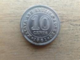 Malaya  Britich  Borneo  10  Cents 1961 H   Km 2 - Malaysia