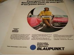 ANCIENNE AFFICHE  PUBLICITE AUTORADIO BLAUPUNKT BOSCH 1969 - Tabac (objets Liés)