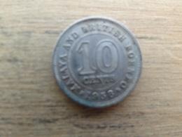 Malaya  Britich  Borneo  10  Cents 1958  Km 2 - Malaysia