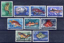 YUGOSLAVIA 1956 Marine Fauna, Used.  Michel 795-803 - 1945-1992 Socialist Federal Republic Of Yugoslavia
