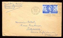 Royaume Uni - Enveloppe De Newport Pour La France En 1957 - Réf O52 - Marcofilie