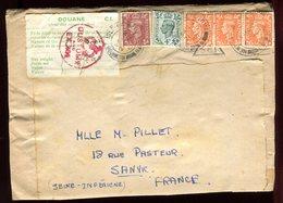 Royaume Uni - Enveloppe De Newport Pour La France En 1950 , étiquette Douane - Réf O53 - Marcofilie