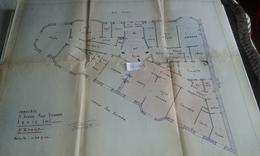 VP13.027 PARIS - Plan 66 X 55 Immeuble Du 71 Avenue P. DOUMER - Brigitte BARDOT Habita De 1956 A 1971 Dans Cet Immeuble - Architecture