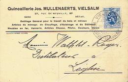 CP Publicitaire - VIELSALM  1934 - Jos. MULLENAERTS - Quincaillerie - Vielsalm