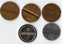 5 Jetons De Téléphone - 3 Gettone Téléfonico - 1 Sistema Télébras DDD - 1 Jeton Vierge ? - Jetons & Médailles
