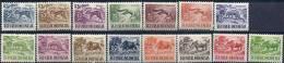 1956-58 INDONESIE 119-25B** Animaux - Indonesia