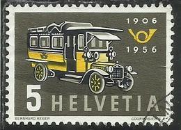 SWITZERLAND SUISSE SCHWEIZ SVIZZERA HELVETIA 1956 FIRST SWISS POST BUS TORPEDONE POSTALE CENT. 5c USATO USED OBLITERE' - Switzerland