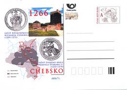 Rep. Ceca / Cart. Postali (Pre2016/22) Occupazione Di Chebsko, Re Premysl Otakar II. (1266) - Geografia