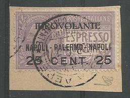 Idrovolante Napoli Palermo 25c S 40c Violet - 1900-44 Victor Emmanuel III