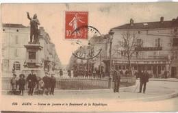 47 Agen Statue De Jasmin Et Le Boulevard De La Republique Café De Paris - Agen