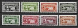 GRAND LIBAN - POSTE AERIENNE - YVERT N° 57/64 * CHARNIERE LEGERE - COTE = 44 EUR. - Great Lebanon (1924-1945)