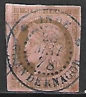 COLONIES . Emissions Générales   -  1872  .  Y&T N° 18 Oblitéré  Chandernagor .  Cérès. - Ceres