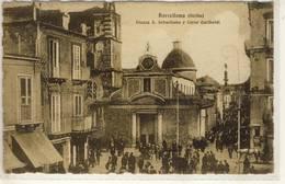 BARCELLON SICILIA  PAZZA S SEBASTIANO E CORSO GARIBALDI   VIAGGIATA 1923 - Italy