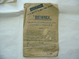 BUSTA PUBBLICITARIA REGIA AVIAZIONE A.O.I. CORRISPONDENZA MILITARI. - Publicidad