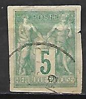 COLONIES . Emissions Générales   -  1877  .  Y&T N° 31 Oblitéré .  Type Sage.. - Sage