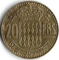 1 Pièce De Monnaie 20 Francs 1950 - Monaco