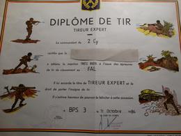 Belgique-diplôme De Tir (tireur Expert) - Documentos