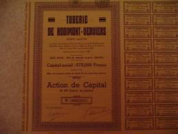 """Action De Capital """"Tuberie De Hodimont"""" Verviers 1936 - Industrie"""