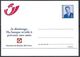 3 EP Série 33 (catalogue Des Entiers Postaux) (17Fr) Albert II ,avis De Changement D'adresse +pub Banque Générale - Cartes Illustrées