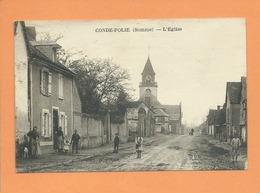 CPA -  Condé Folie -(Somme) - L'église - Frankrijk