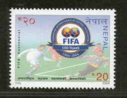 Nepal 2004 FIFA Football Association Centenary Sports Games Sc 746 MNH # 1395 - Nepal