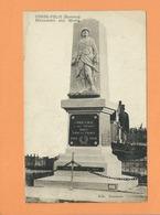 CPA Abîmée  -  Condé Folie -(Somme) - Monument Aux Morts - Frankrijk