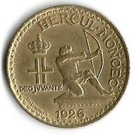 1 Pièce De Monnaie 1 Francs 1926  Poissy - Monaco