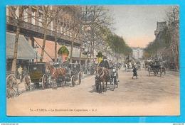 75-Paris- Boulevard Des Capucines-cpa Non écrite Couleur - Transport Urbain En Surface